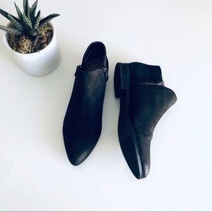 Franco Sarto 'Kingston' Flat Black Leather Bootie